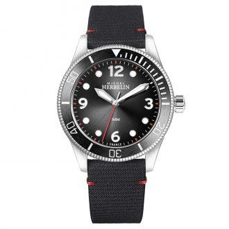 MICHEL HERBELIN - Trophy Diver Textile Strap Watch 12260/AN14