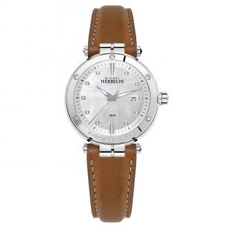 MICHEL HERBELIN - Newport Diamond Dial Watch 14288/AP89GO