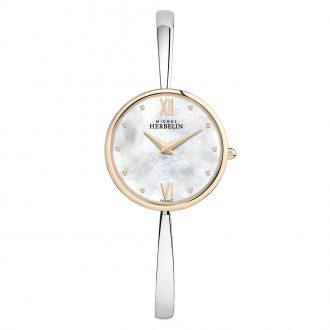 MICHEL HERBELIN - Scandinave Maxi Two Tone Bangle Watch 17418/BTR19