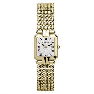 MICHEL HERBELIN - Perle Square Case Gold PVD Bracelet Watch 17473/BP08