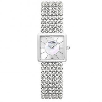 MICHEL HERBELIN - Perle Square Bracelet MOP Dial Watch 17493/B19