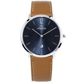 MICHEL HERBELIN - City Leather Strap Watch 19515/15