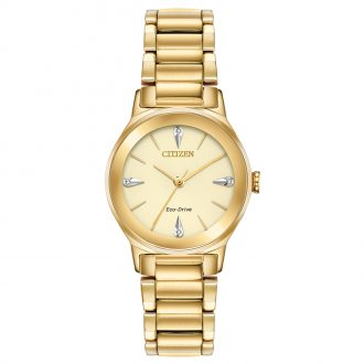 CITIZEN - Axiom Diamond Gold Tone Watch EM0732-51P