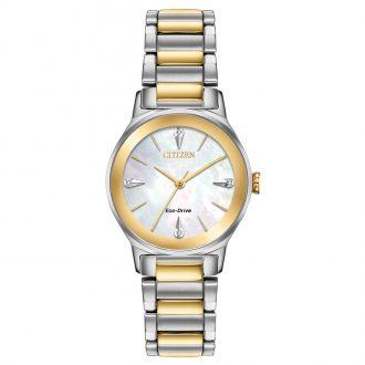 CITIZEN - Axiom Diamond Two Tone Watch EM0734-56D