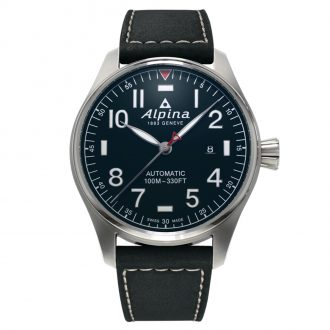 ALPINA - Startimer Pilot Automatic Leather Strap AL-525NN4S6