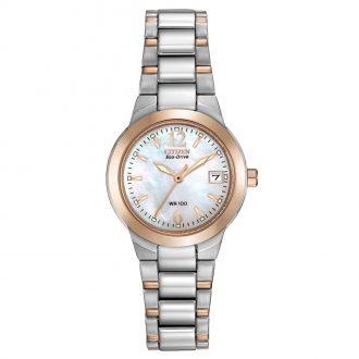 CITIZEN - Silhouette Two Tone Bracelet Watch EW1676-52D