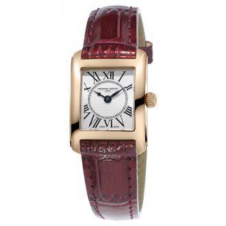 FREDERIQUE CONSTANT - Carrée Leather Strap Watch FC-200MC14