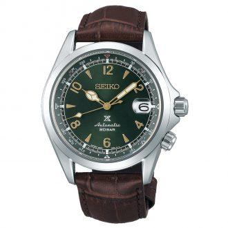 SEIKO PROSPEX - Alpinist Green Dial Compass Auto Strap Watch SPB121J1