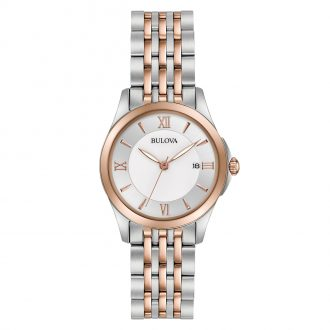 BULOVA - Classic Two Tone Steel and Rose Watch 98M125