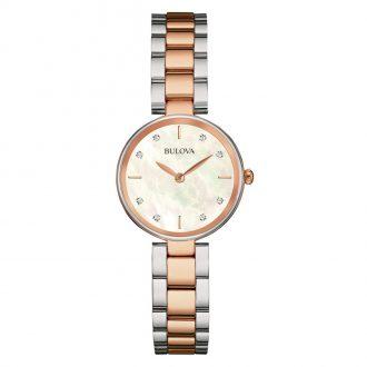 BULOVA - Classic Diamond Two Tone Bracelet Watch 98S147