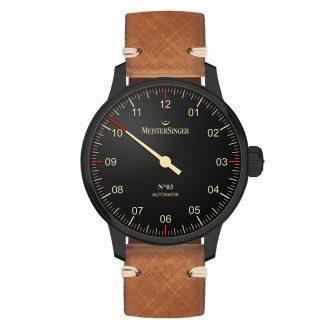 MEISTERSINGER - N°03 Black Line Leather Strap AM902BL_SVSL03