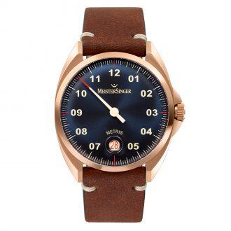 MEISTERSINGER - Metris Bronze Leather Watch ME917BR_SVF02-1
