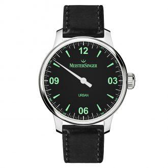 MEISTERSINGER - Urban Black Strap Watch UR902_SKK01