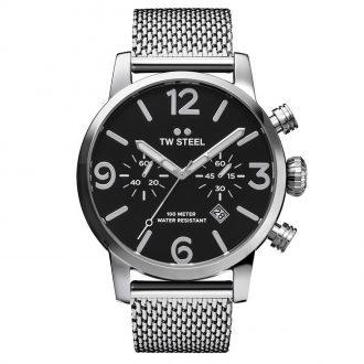 TW STEEL - Maverick Black Dial Bracelet Chronograph MB14
