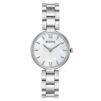 BULOVA - Classic Mother of Pearl Dial Women's Steel Bracelet Watch 96L229
