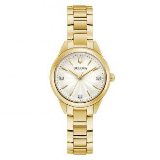 BULOVA - Sutton Gold Tone Women's Bracelet Watch 97P150