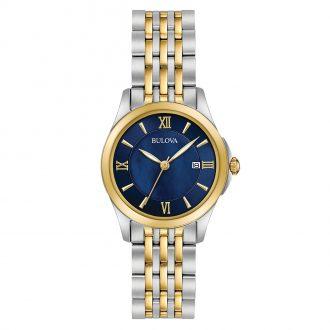BULOVA - Classic Two Tone Women's Bracelet Watch 98M124