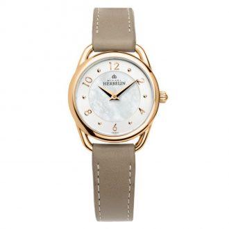 MICHEL HERBELIN - Equinoxe Rose Gold PVD Leather Strap Watch 17497/PR29GR