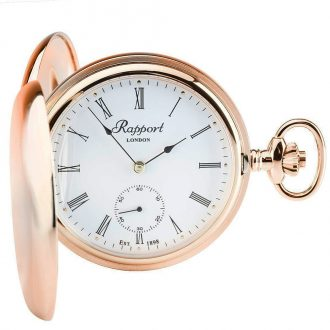 RAPPORT - Mechanical Double Hunter Rose Gold Pocket Watch PW12