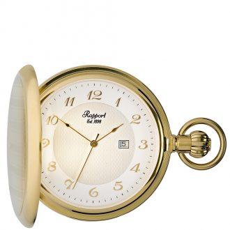 RAPPORT - Full Hunter Gold Plated Quartz Pocket Watch PW70