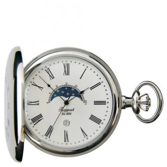 RAPPORT - Half Hunter Silver Plated Pocket Watch PW81