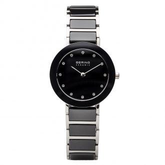 BERING - Black Ceramic Silver Tone Women's Watch 11429-742
