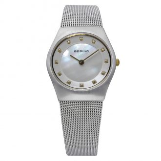 BERING - Classic Brushed Silver Mother of Pearl Dial Watch 11927-004