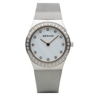 BERING - Classic MOP Dial Polished Silver Tone Watch 12430-010