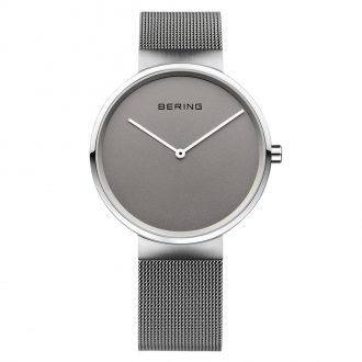 BERING - Classic Grey Dial Brushed Silver Watch 14539-077