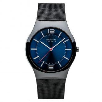 BERING - Black Ceramic Men's Bracelet Watch 32039-447