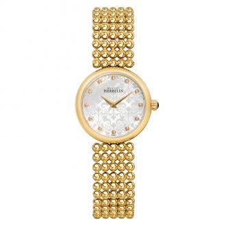 MICHEL HERBELIN - Perle Gold PVD Women's Bracelet Watch 17483/BP59