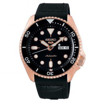 SEIKO - Seiko 5 Sports Rose IP Black Dial Automatic Watch SRPD76K1