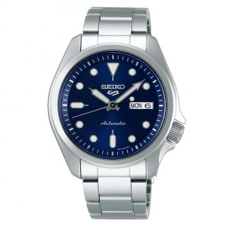 SEIKO - Seiko 5 Sports Blue Dial Automatic Bracelet Watch SRPE53K1