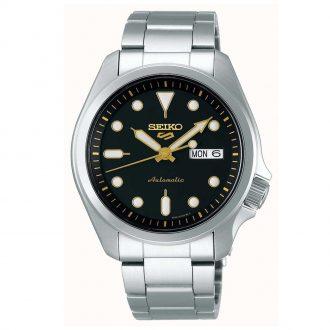 SEIKO - Seiko 5 Sports Black Dial Automatic Bracelet Watch SRPE57K1