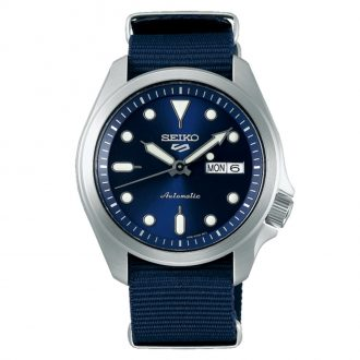 SEIKO - Seiko 5 Sports Blue Dial Blue Textile Strap Watch SRPE63K1