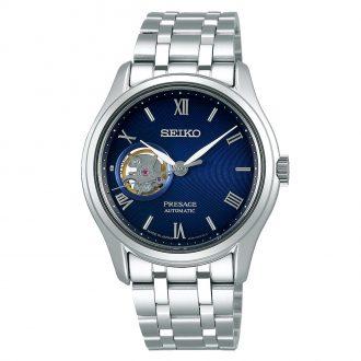 SEIKO PRESAGE - Zen Garden Blue Open Aperture Dial Bracelet Watch SSA411J1