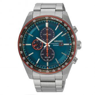 SEIKO - Solar Chronograph Men's Bracelet Watch SSC717P1
