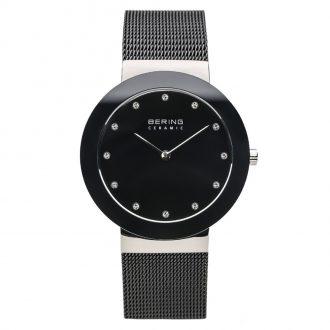 BERING - Black Ceramic Polished Silver Women's Watch 11435-102