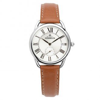 MICHEL HERBELIN - Equinoxe Tan Strap Watch 18397/08GO