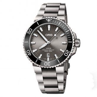 ORIS - Aquis Titanium Date Grey Dial Watch 0173377307153-0782415PEB