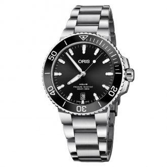 ORIS - Aquis Date Black Dial Bracelet Watch 0173377324134-0782105PEB