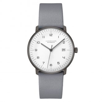 JUNGHANS - Max Bill Automatic Grey Strap Watch 027/4007.04