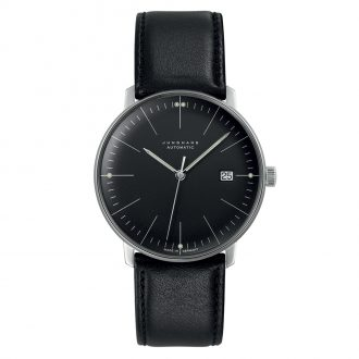 JUNGHANS - Max Bill Automatic Black Dial Watch 027/4701.02