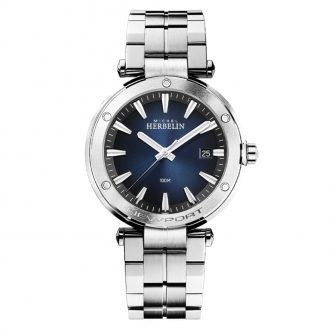 MICHEL HERBELIN - Newport Blue Dial Bracelet Watch 12288/B15