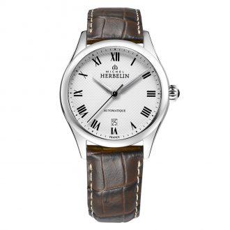 MICHEL HERBELIN - Classique Automatic Leather Strap Watch 1661/01MA