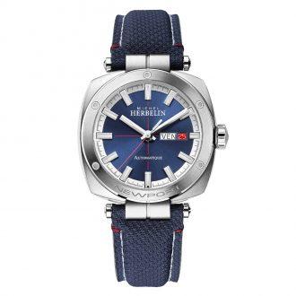 MICHEL HERBELIN - Newport Heritage Automatic Blue Strap Watch 1764/42