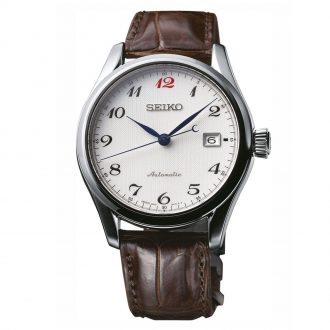 SEIKO PRESAGE - White Dial Leather Strap Watch SPB039J1