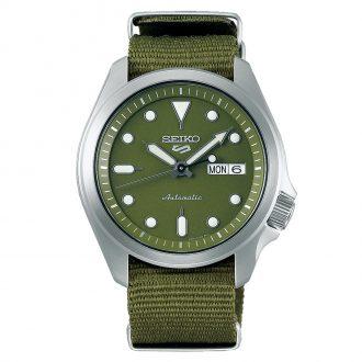 SEIKO - Seiko 5 Sports Green Dial Green Textile Strap Watch SRPE65K1