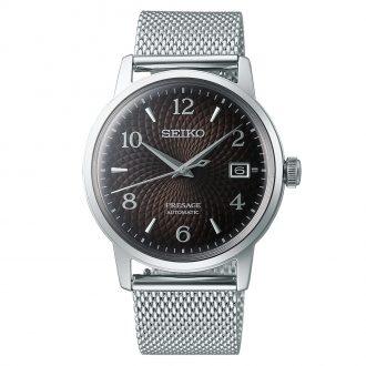 SEIKO PRESAGE - Black Russian Cocktail Time Bracelet Watch SRPF39J1