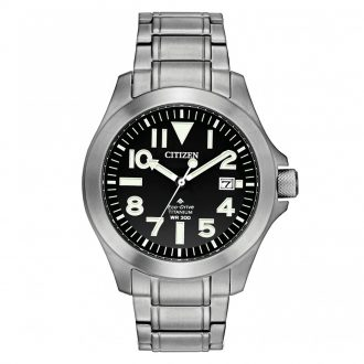 CITIZEN - Promaster Tough Black Dial Super Titanium Watch BN0118-55E